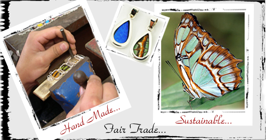 Silver Tree designs fair trade, sustainable and hand made butterfly jewelry image